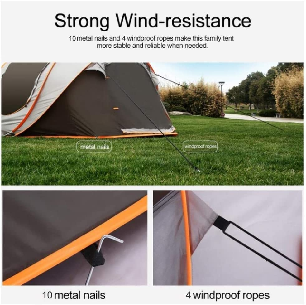 Hiking and Traveling Instant Automatic 3-8 Person Family Camping Tents Easy Quick Setup Dome Popup Tents for Camping XUDREZ Easy Pop Up Tents