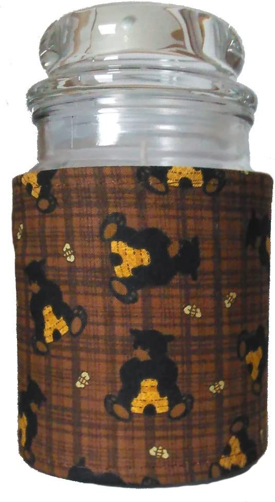 Accented Apparel N More Insulated Denver Mall Jar - Sale Wrap Candle Bear Pattern
