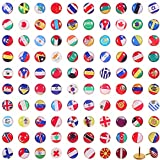 Kreative Push Pins Nationale Flagge Reißnagel Land Karte Push Pins für Bulletin Board, Karte, Büro (100 Stücke, Sortiertes Länder Muster)