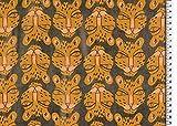 Die Stofftante Kunstleder Lederimitat Tigerkopf Animalprint