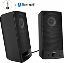 Avantree Desktop Bluetooth PC Computer Speakers, Wireless & Wired 2-in-1, Superb Stereo Audio, AC Powered 3.5mm / RCA Multimedia External Speakers for Laptop, Mac, TV - SP750