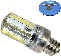 HQRP E12 Candelabra Base LED Bulb Cool White AC 110V Compatible with LG 6913EL3001A / 6913EL3001E Dryer Light Bulb Replacement Plus HQRP Coaster