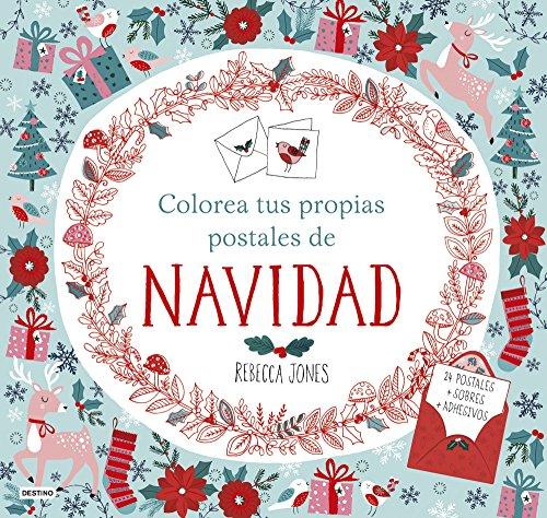 Colorea tus propias postales de Navidad (Libros de entretenimiento)