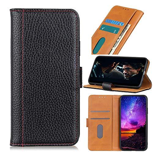 ROVLAK Funda para Alcatel 1S (2021) Magnética Flip Case Cuero Cartera Funda Antigolpes con Tarjeta Ranuras Wallet Cover Protectora Estuche para Alcatel 1S (2021) Smartphone,Negro