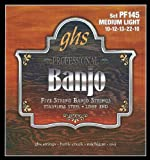 GHS Strings PF145 5-String Banjo Strings, Stainless Steel, Medium Light (.010-.022)