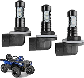 Headlight Bulbs Lamps For Polaris Sportsman ACE 150W 6000K 3600LM Super White Color 3 Pack