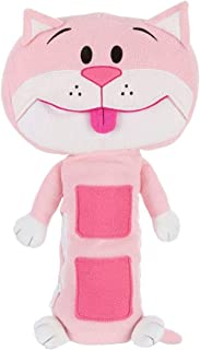 Seat Pets (Original Pink Cat) – As Seen on TV - Kids Seat Belt Car Travel Pillow and Plush Animal Toy – Compatible with Any Safety Belt to Provide Head & Neck Support