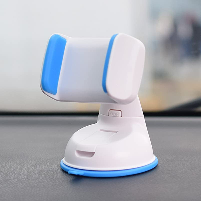 開発する過剰説教車用スマホホルダー 携帯ホルダー Castley車載スマホスタンド スマホスタンド 車用ホルダー アイフォンスタンド 粘着ゲル吸盤 取り付け簡単/360度回転可能/片手操作/多機種対応(ブルー)