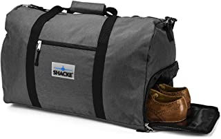 's Travel Duffel Express Weekender Bag – Carry On Luggage with Shoe Pouch (38L, Dark Gray)