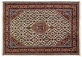 Lifetex.eu Teppich Bidjar ca. 170 x 240 cm Beige handgeknüpft Schurwolle Klassisch hochwertiger Teppich
