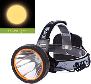 Hunting friends Separation Style LED Headlamp Rechargeable Head Lamp Waterproof Headlight Coon Hunting Lights for Outdoor (Yellow light)