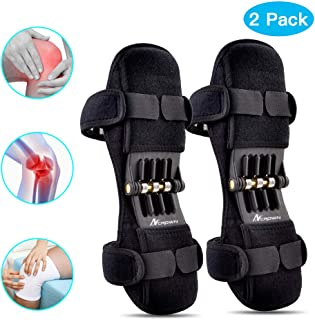 ANCROWN Knee Braces Joint Support, Power Stabilizer Pad, Patella Lifts Protection Booster, Protective Gear with Powerful Rebounds Spring Force for Men/Women Weak Legs, Arthritis Pain