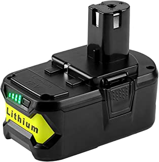 AKDSteel Battery Replacement for Ryobi 18V /P103 /P108/ Lithium Battery Power Tools Battery Accessories 4.0ah for Home Use
