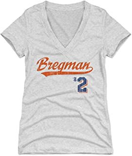 500 LEVEL Alex Bregman Women's Shirt - Houston Baseball Shirt for Women - Alex Bregman Script