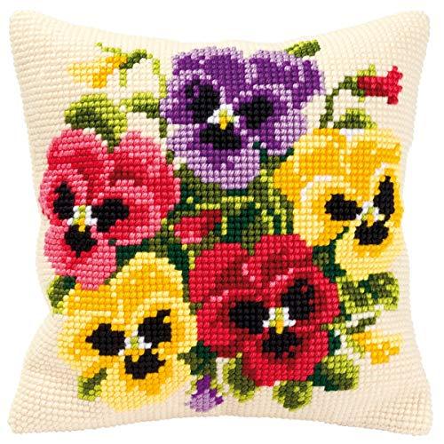 Vervaco - Cojín de Punto de Cruz, diseño de Flores