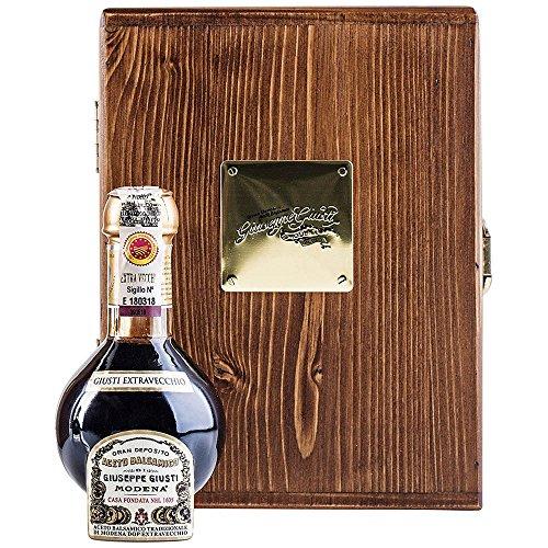 Giusti Aceto Balsamico Tradizionale di Modena DOP – 25-Year Affinato Grade Balsamic Vinegar – Imported from Modena – Wooden Gift Box