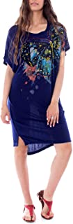 Desigual womens DRESS BUTTERFLY Dress