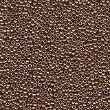 Metallic Light Bronze Miyuki Japanese round rocailles glass seed beads 11/0 Approximately ...