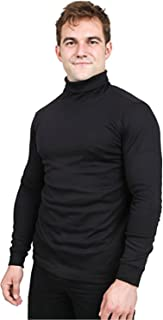 Utopia Wear Premium Cotton Blend Interlock Turtleneck Men T-Shirt