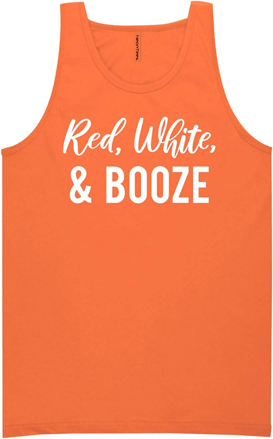 Red, White & Booze Neon Tank Top
