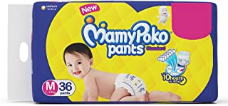 Mamypoko Diaper Pants Standard Style, Size Medium, 7-12 Kg (36 Counts)