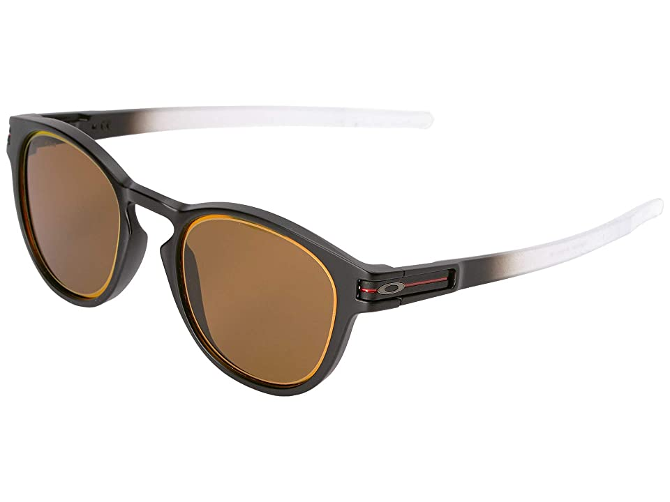Oakley Borderline Latch Collection (Matte Black Fade w/ Prizm Bronze Ruby Alt Iridium) Sport Sunglasses