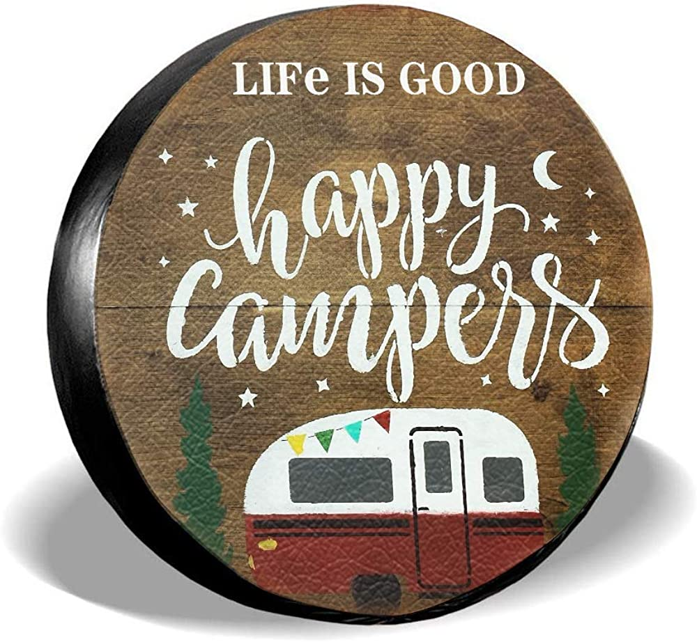 Dream-Seeker Spare Tire Cover Store Life Camper Sales for sale Happy Good is Camping