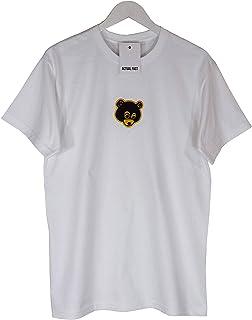 Kanye West Retro Deserción Oso Bordado Blanco Hip Hop Camiseta Top