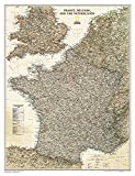 National Geographic: France, Belgium, and The Netherlands Executive Wall Map - Laminated (23 x 30 inches) (National Geographic Reference Map)