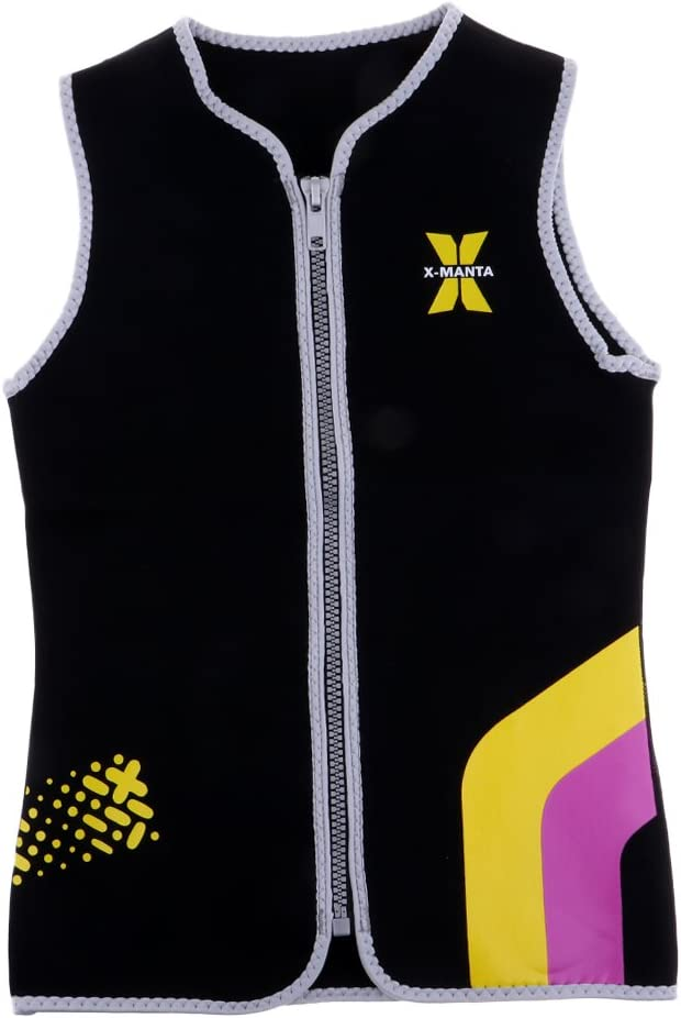 LEIPUPA Womens Wetsuit Top 3mm Sleeveless fo Credence Jacket 5% OFF Zip