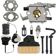 Milttor MS250 Carburetor Air Filter Fuel Gas Caps Fit Stihl MS 250 Carburetor 021 023 025 MS210 MS230 Chainsaw Walbro WT286 WT-286 1123-120-0603