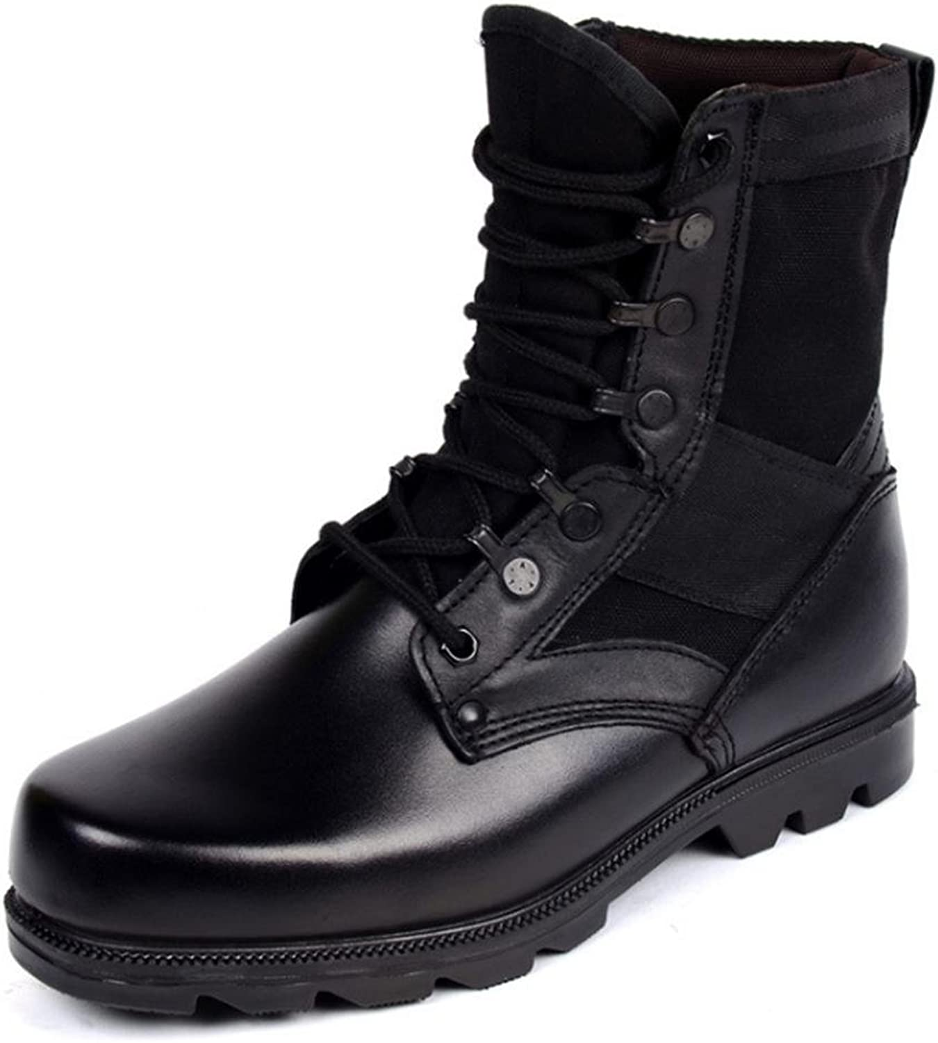 Men'S shoes Winter Genuine Leather Casual Martin Boots Work Military Combat Classic Lace-Up Size 39 To 43