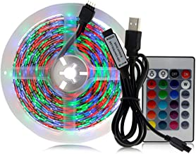 LED Lights Strip for Bedroom - 2 Meters, 5050 SMD, RGB Full Color, 60 Bright LEDs, Support up to 50,000 Hours, IP65 Waterp...