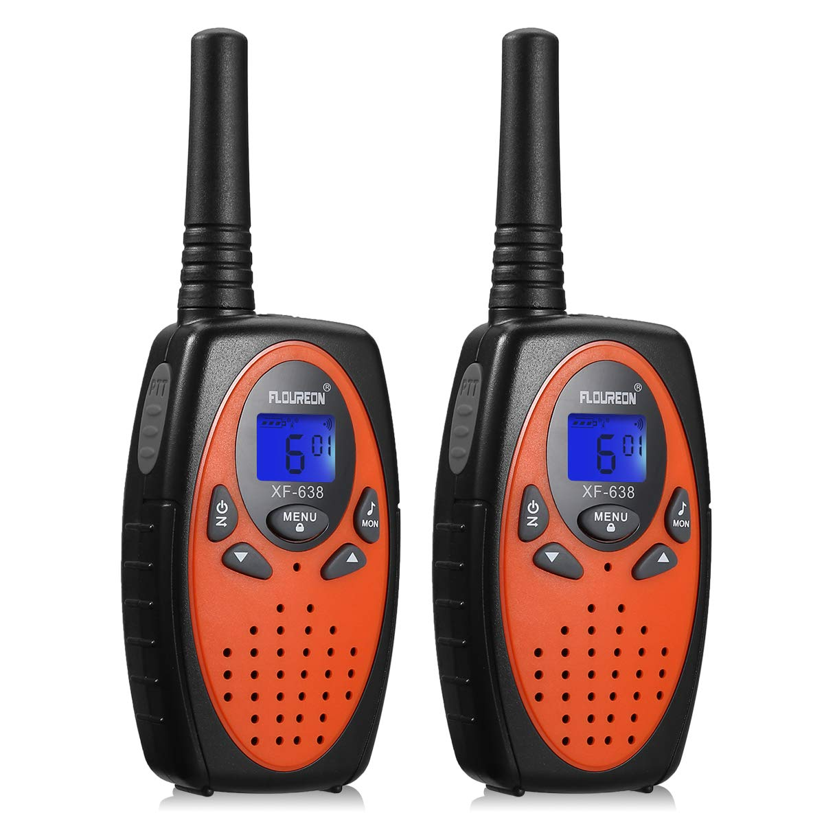 1 Pair 22CH FRS//GMRS Walkie Talkies UHF462-467MHZ 2-Way Radio 5KM Interphone US