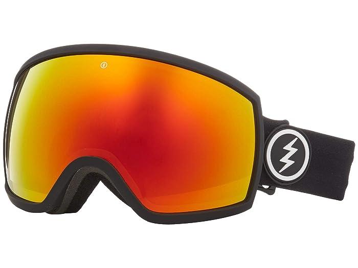 EGG (Matte Black Brose/Red Chrome) Athletic Performance Sport Sunglasses