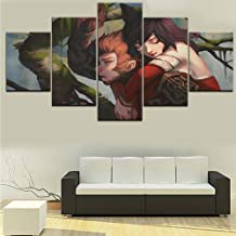 XIAOAGIAO 5 Canvas Painting Home decoration Mortal Kombat 11 poster games wall pictures 5 pieces painting poster home canvas wall decoration Painting on Canvas