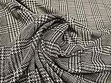 Tissu en tricot double jersey Prince de Galles, au mètre