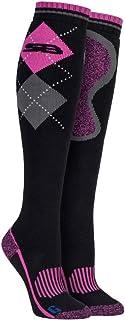 Mujer Rodilla Largos Altos Algodón Suave Senderismo Equitación Respirable Calcetines con Fantasia Diseño