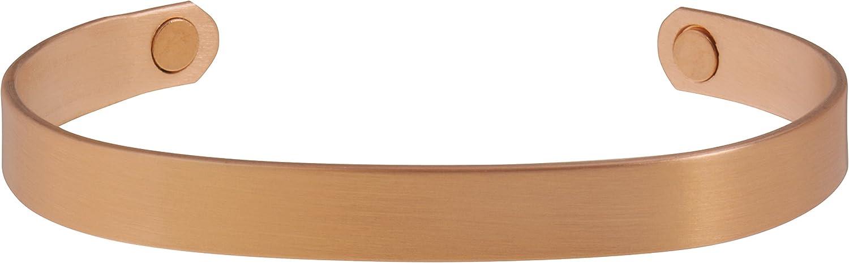 Sabona Brushed Albuquerque Mall Copper Original Magnetic Large Bracelet safety