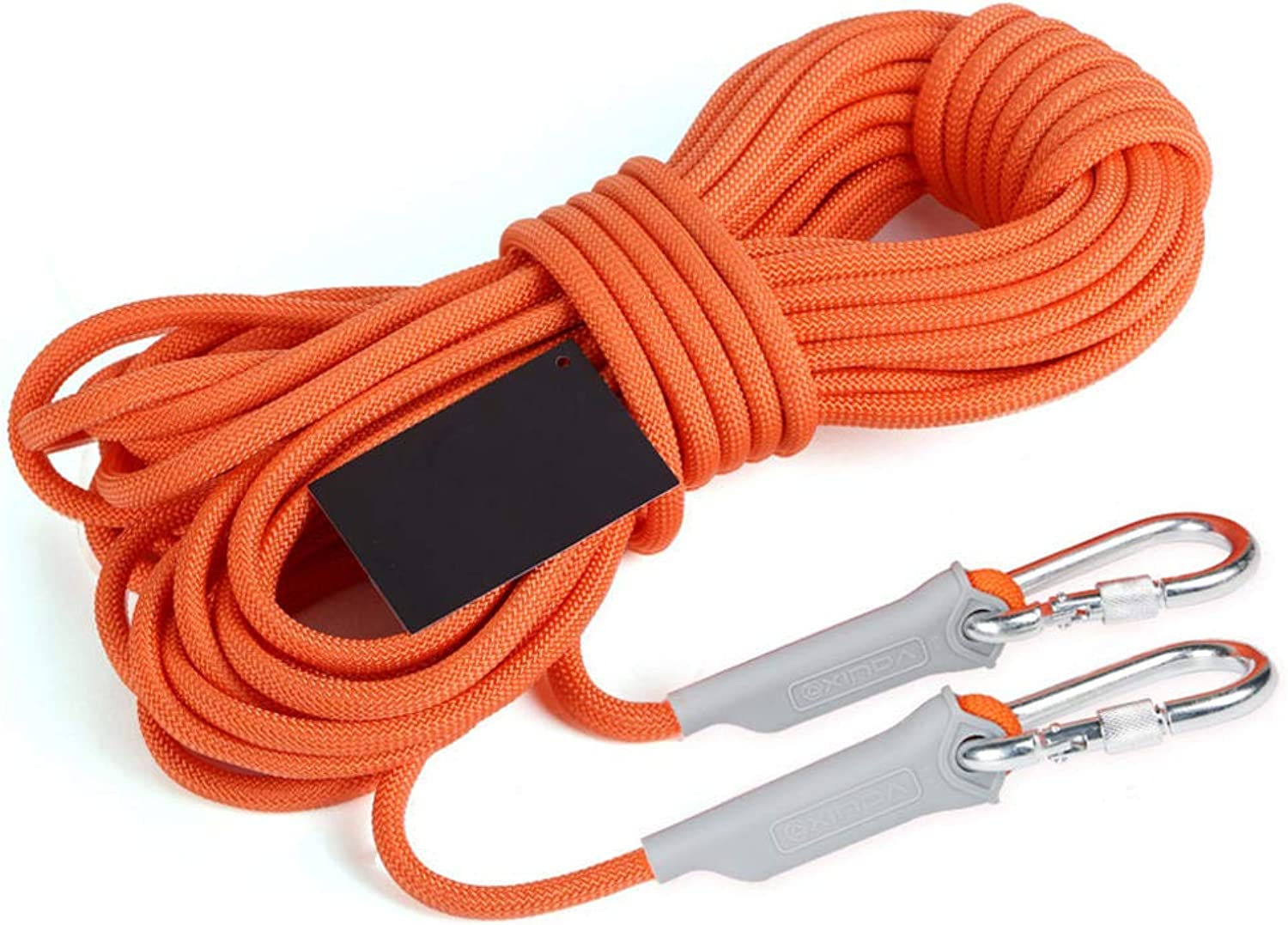 ROBAG Rock Climbing Rope, Outdoor Climbing Water Snorkeling Rope WearResistant Rope Survival Equipment Supplies orange Belt 2 Hook