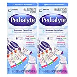 Pedialyte Oral Electrolyte Powder, Variety Flavor 8 Count (Pack of 2)