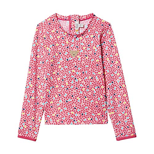 Steiff Mädchen UV Shirt Badeanzug, Rosa (Rasperry Sorbet 7014), 104
