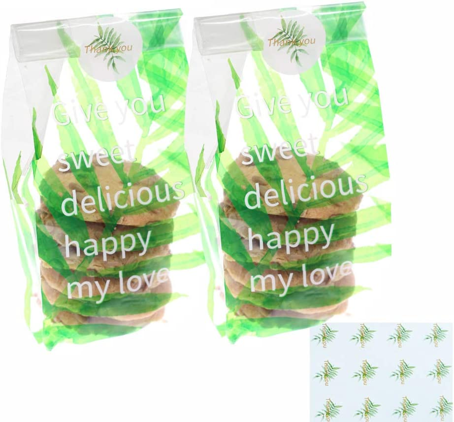 QAQGEAR 200 PCS Clear Cookie Bags Cheap sale Treat wit Outlet ☆ Free Shipping Candy Gift