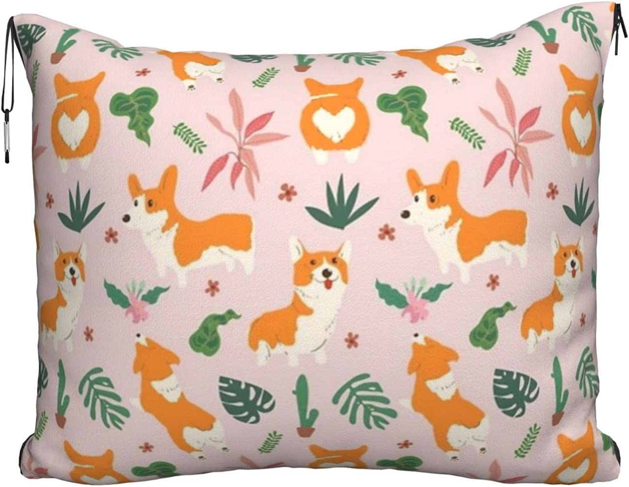 Small Fresno Mall Size Corgi Printed Travel Discount is also underway 2-in Soft Pillow Blanket Velvet