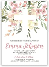 Religious Invitation, First Communion, Baptism, or Confirmation, 5 inches by 7 inches, Envelopes Included with Printed Option, Printed or Digital DIY Party Supplies Invitation Cards