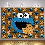 Sesame Street Backdrop Cookie Monster Birthday...
