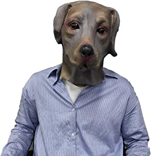 Realistic Labrador Dog Mask Halloween Costume Latex Mask Animal Head Face Disguise Party Cosplay for Adults Chocolate