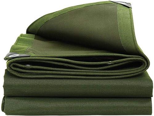 WHS Toile épaisse résistante de bache Verte imperméable Forte pour Le Voyage extérieur de Feuille de Plancher de Voiture de Bateau (Taille   4x4m)