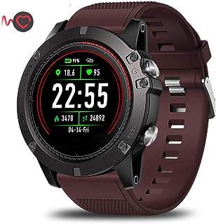 WMING Reloj Inteligente, Bluetooth Reloj Inteligente Ip67 A Prueba De Agua Rastreador De Ejercicios Detector De Frecuencia CardíAca Rastreador De Actividad Reloj Deportivo para Hombres Y Mujeres