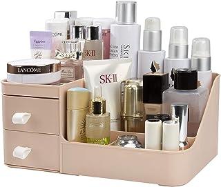 Rangement Maquillage, Organisateur de Cosmétiques avec 2 Tiroirs, Boîte à Bijoux et Support Cosmétique Rangements pour Sal...